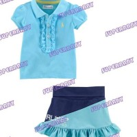 Baju Anak -  Polo Skirt Set Blue (GI-576)