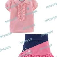 Baju Anak - Polo Skirt Set Pink (GI-576)