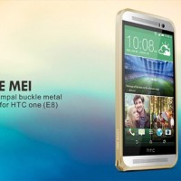 LOVE MEI Hippocampal Buckle Metal Bumper for HTC One E8 Original