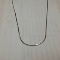 Kalung kasandara silver/perak 925 sudah dilapis emas putih