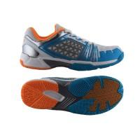 Sepatu Badminton Specs Zeus - White-Blue-Silver-300132