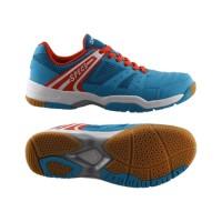 Sepatu Badminton Specs Athena - Cirrus Blue-Signal Orange-White-300165