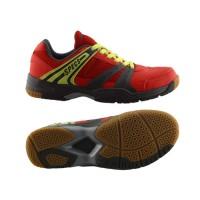 Sepatu Badminton Specs Athena - Vision Red-Graphite-Solar Slime-300166