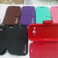 LEATHER CASE FLIPSHELL FLIPCOVER SARUNG EXECUTIVE C1 ANDROMAX i3