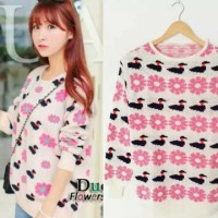 F1039 - Sweater Fashion Wanita (TEBAL)