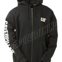 JAKET SWEATER HOODIE ZIPPER HITAM CATERPILLAR / CAT