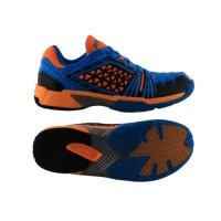 Sepatu Badminton Specs Zeus - Cyan-Orange-Black-300134