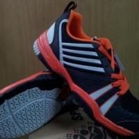 Sepatu Tenis Specs Grand Slam - Black-Orange-Silver-700046