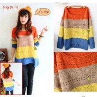 F1055 - Sweater Fashion Wanita (TEBAL)