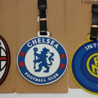 LUGGAGE TAG / BAG TAG / LABEL KOPER (LOGO AC MILAN & INTER MILAN)