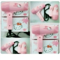 Hair Dryer Mini Travel Hello Kitty HK Hairdryer Pengering Blow Rambut