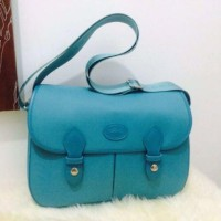 TAS LONGCHAMP LE PLIAGE CUIR MEDIUM LEATHER SOFT BLUE