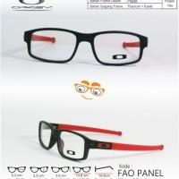 Kacamata Frame OAKLEY PANEL Hitam Merah (KW Super)