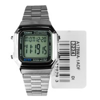 JAM TANGAN wanita CASIO digital ORI A178WA-1A strap stainless fashion