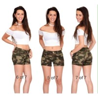 HOTPANTS JEANS ARMY GREEN FIT TO 29