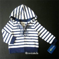 Jaket Anak Oshkosh Stripes Hoodie Size 3 Tahun