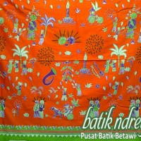 kain meteran batik betawi orange