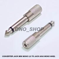 Converter Jack Mini Mono 3,5 MM to Jack Akai Mono Nikel