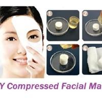 Compressed Paper Mask ( Masker wajah polos bentuk Permen )