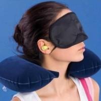 travel pillow 1 bantal 1 tutup mata 1 ear plug