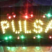 tulisan lampu led / led sign pulsa kuning