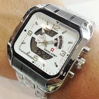 Jam Tangan Pria Swiss Army DTC (Silver White)