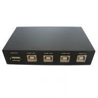 USB Switch Printer Sharing USB Manual 1-4 - Hitam