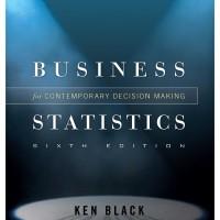 STATISTICS FOR BUSINESS - KEN BLACK in CD