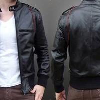 Jaket jas kulit keren gaya stylish Ariel NOAH murah