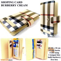 DOMPET KARTU SHOPING CARD KULIT BURBERRY FULLCREAM