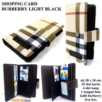 DOMPET KARTU SHOPING CARD KULIT BURBERRY LIGHT HITAM KW