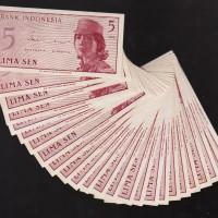 Uang kuno 5 Sen masa penjajahan jepang ( mahar/ koleksi )