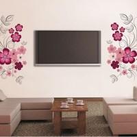 Purple Flowers JM7151 - Stiker Dinding / Wall Sticker