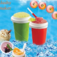 squeezy freezy slushy ice maker es gelas mug sedotan sendok anak unik