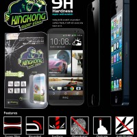 Anti Gores Screen Protector Kingkong Super Tempered Glass HTC One M8