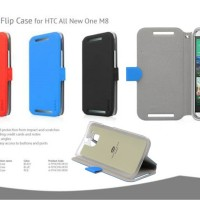 Ahha Reily Leather Flip Cover Case HTC One M8