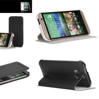 Rock Excel Leather Flip Stand Case Cover HTC One M8