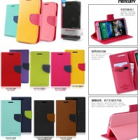 Mercury Fancy Diary Leather Flip Cover Case HTC One M8
