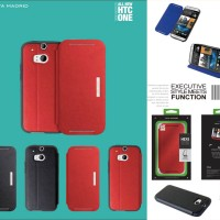 Viva Sabio Hexe Leather Flip Cover Case HTC One M8