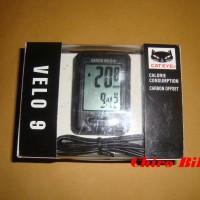 Speedometer sepeda cateye velo 9