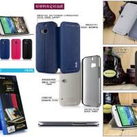 mak Texture Leather FLip Cover Case HTC One M8