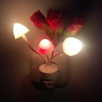 Lampu tidur jamur avatar mini dengan tombol on off