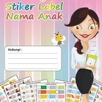 DVD Template Sticker Label Nama Anak