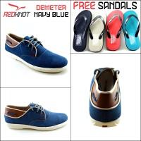 Sepatu Kulit Casual Redknot Demeter Navy Blue