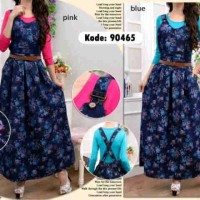Overall jeans kembang matt jeans print fit to L