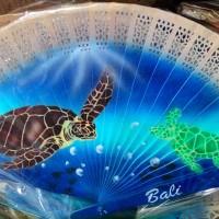 Kipas Kayu Airbrush Lukisan Wisata Laut