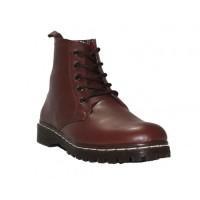 Sepatu Boot Tinggi Wanita D-Island warna coklat