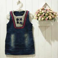 Baju Anak - Ribbon Jeans Dress (GI-579)