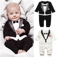 Baju Anak - Romper Tuxedo Black (RO-030)