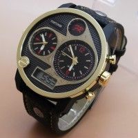 Fortuner AD-1517 Triple Time (Black Leather List Gold)